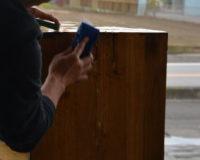 桐たんす修理 再生行程 桐たんすの洗浄