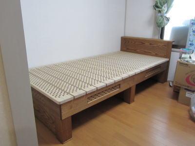 オイル仕上げ桐ベッド