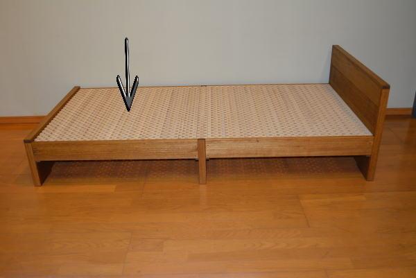 桐ベッドの強度テスト